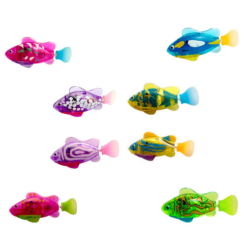 Luminous Electric Robotic Fish Activated Battery Powered Swimming Boy Bath Pet Toys Aquarium Decor CSV Dropshipping Wholesale