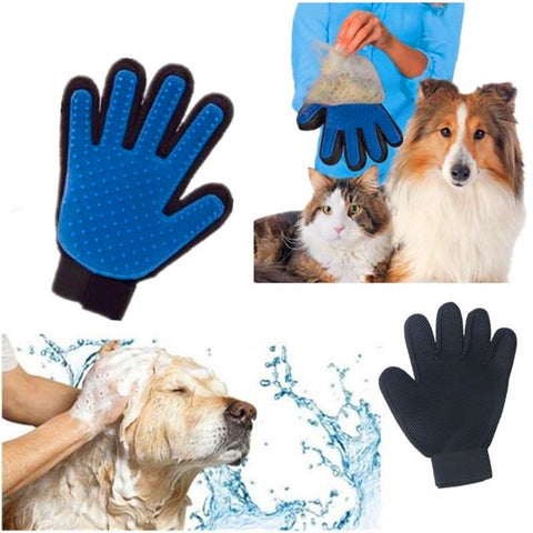 True Silicone pet brush Glove Touch Deshedding Gentle Efficient Pet Grooming Dogs Bath Pet cleaning Supplies Pet Dog Accessories