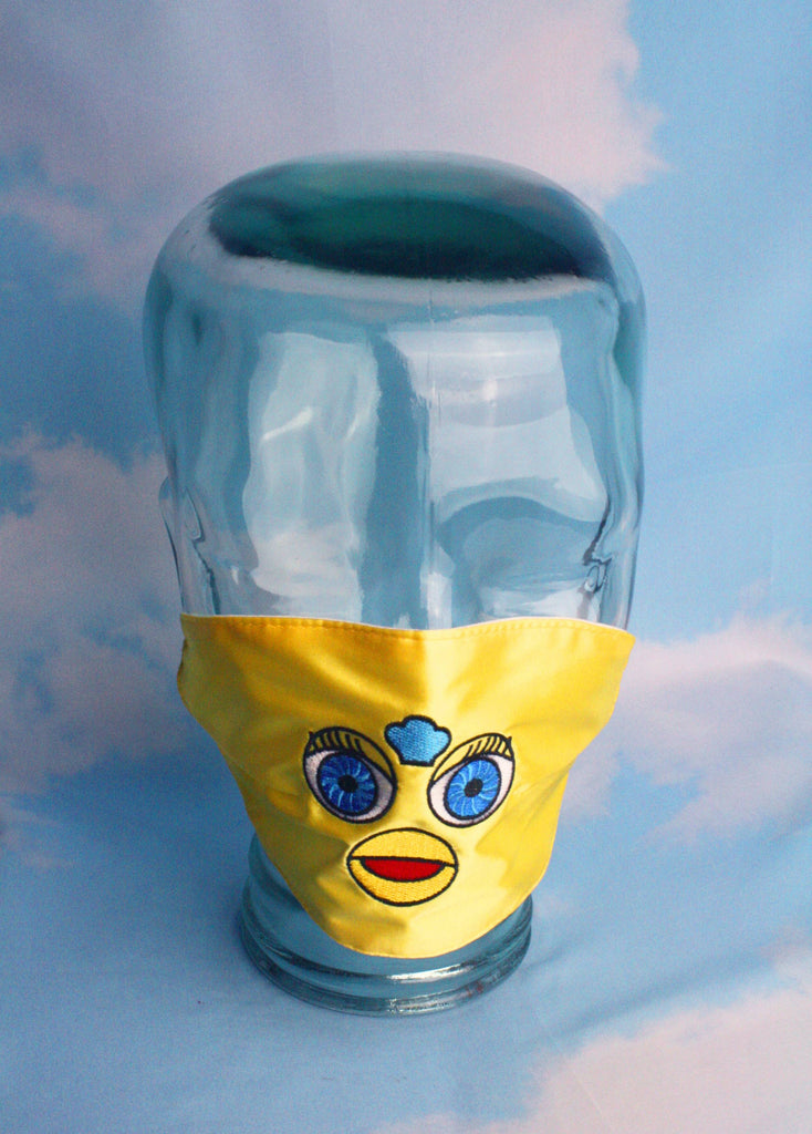 FURBY FACE MASK YELLOW
