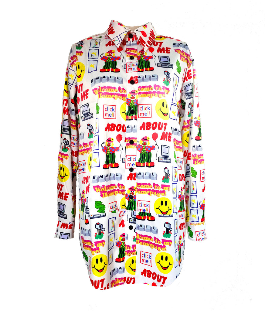 90S INTERNET BUTTON UP SHIRT *PRE-ORDER*