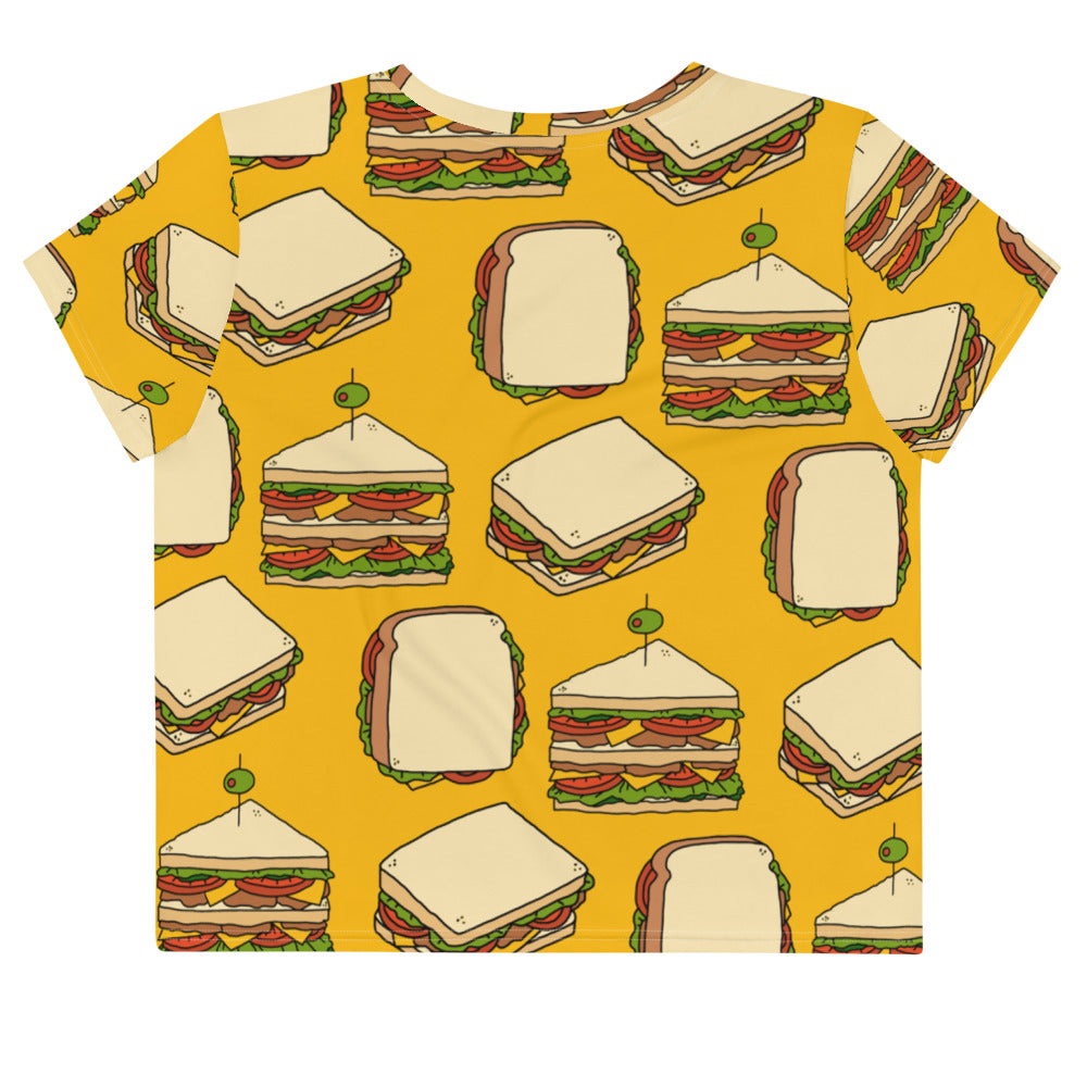I NEED A SANDWICH CROP TOP TEE
