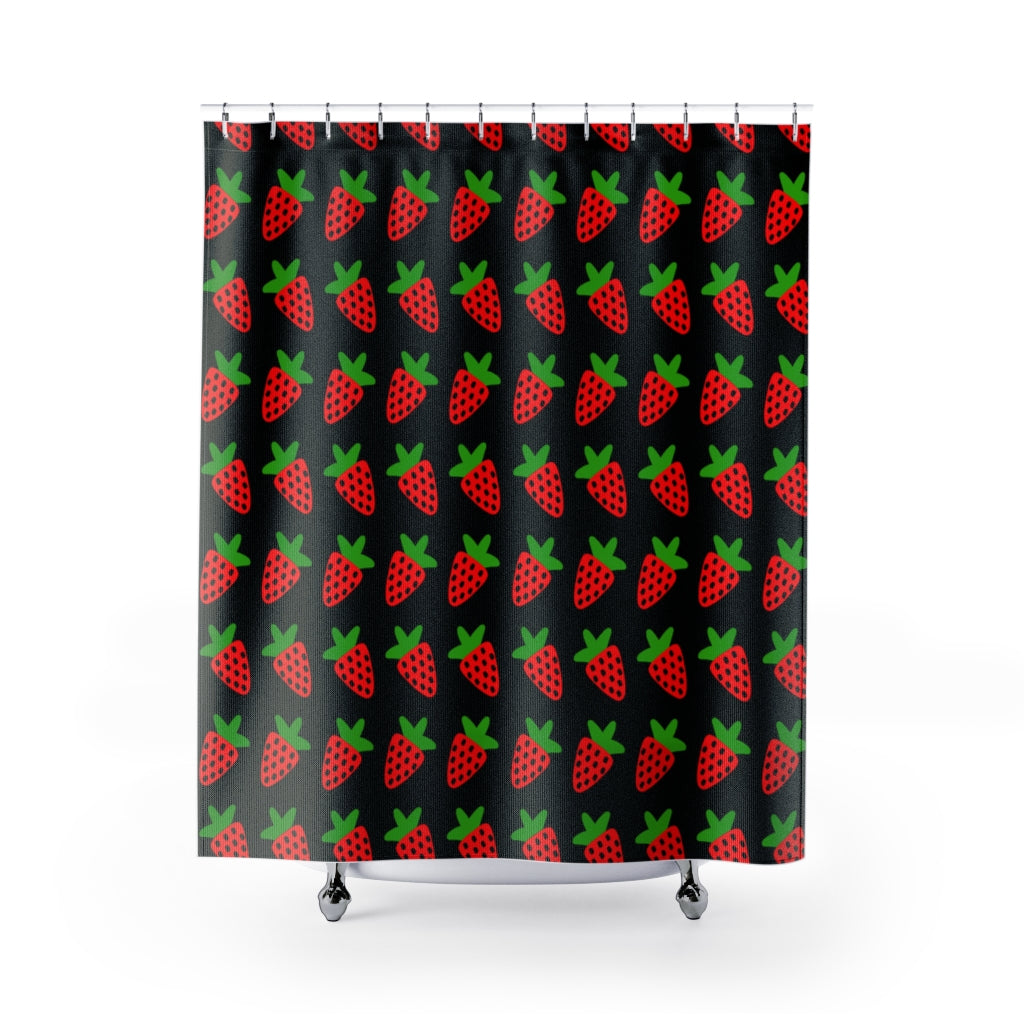 JUICY STRAWBERRY SHOWER CURTAIN