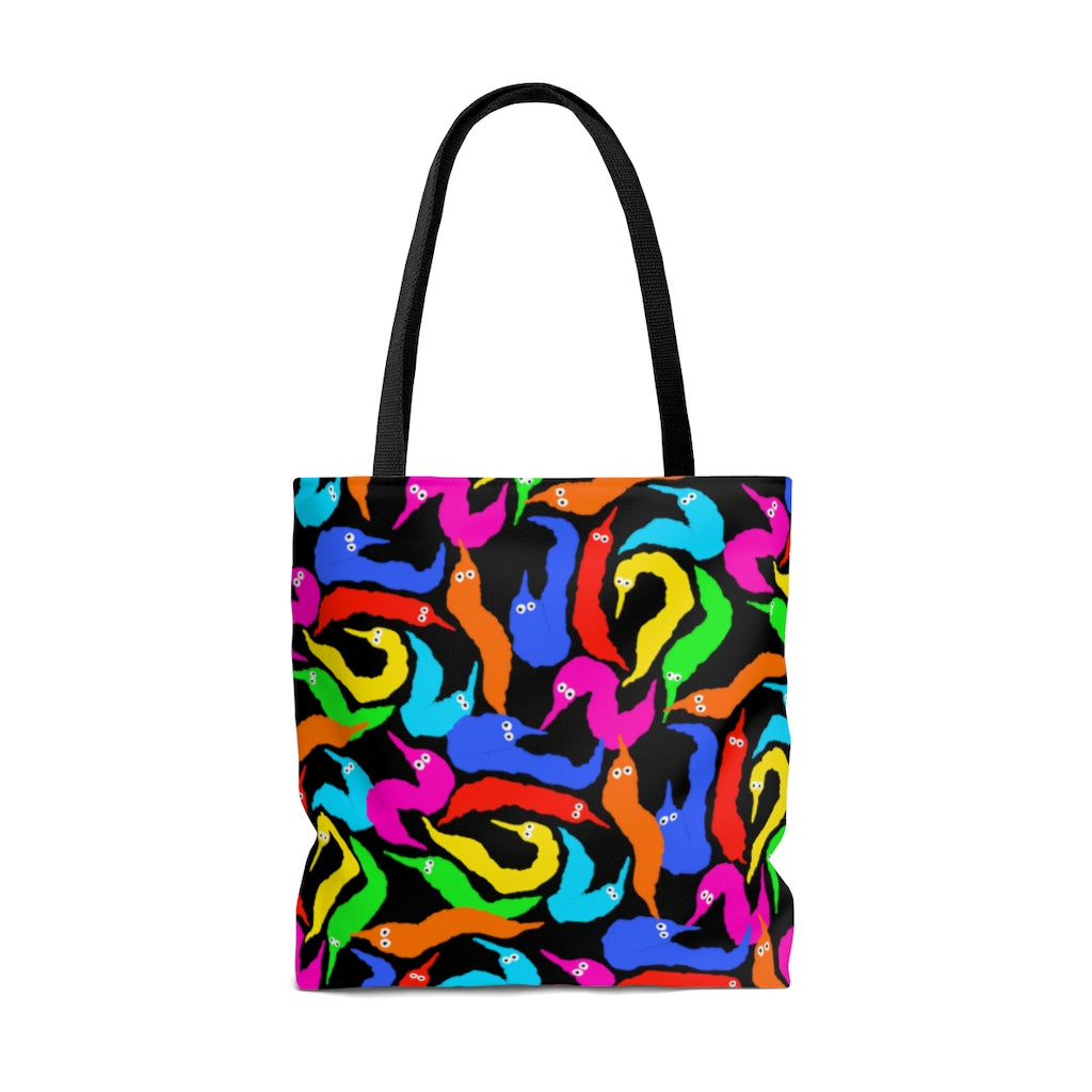 WORM ON A STRING TOTE BAG