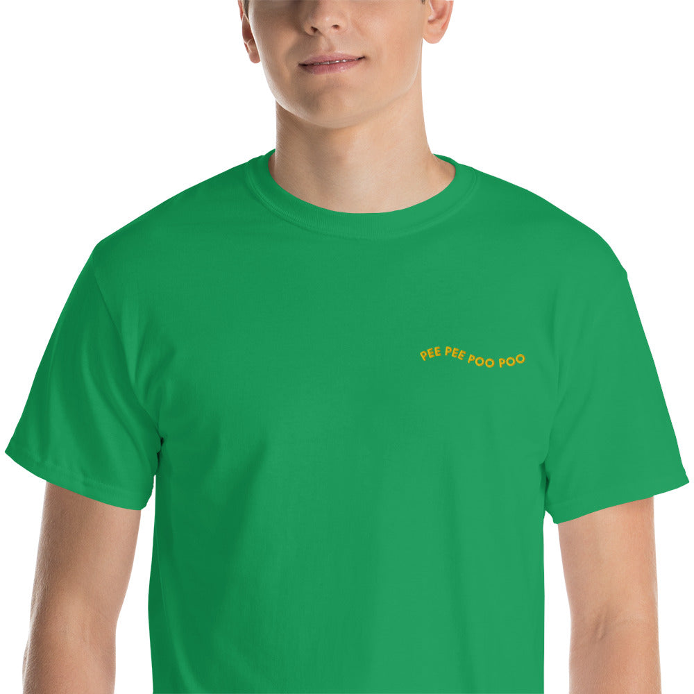 PEE PEE POO POO EMBROIDERED TEE