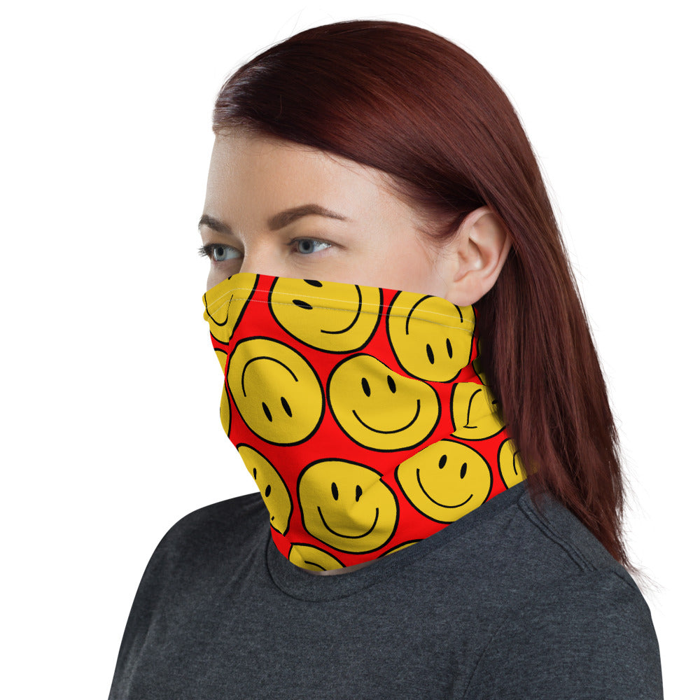 HAPPY FACE NECK GAITER FACE MASK