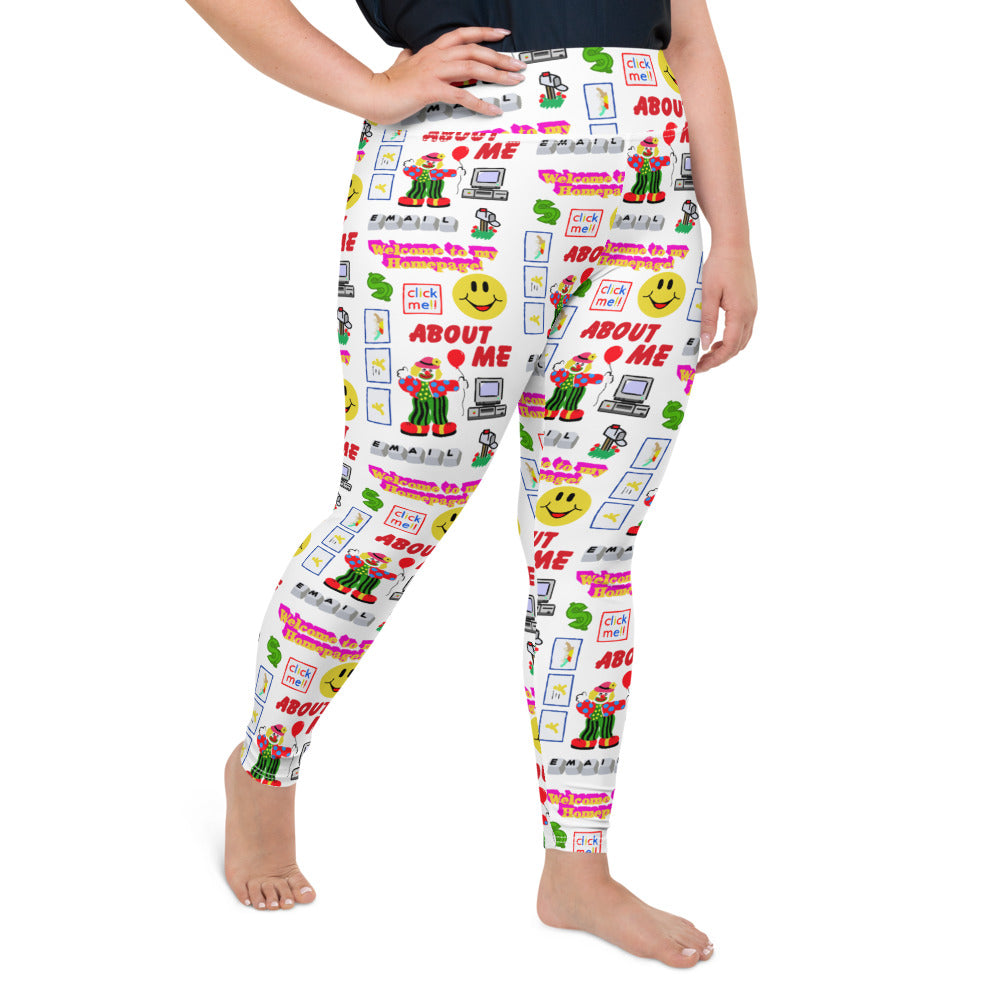 90S INTERNET PLUS SIZE LEGGINGS