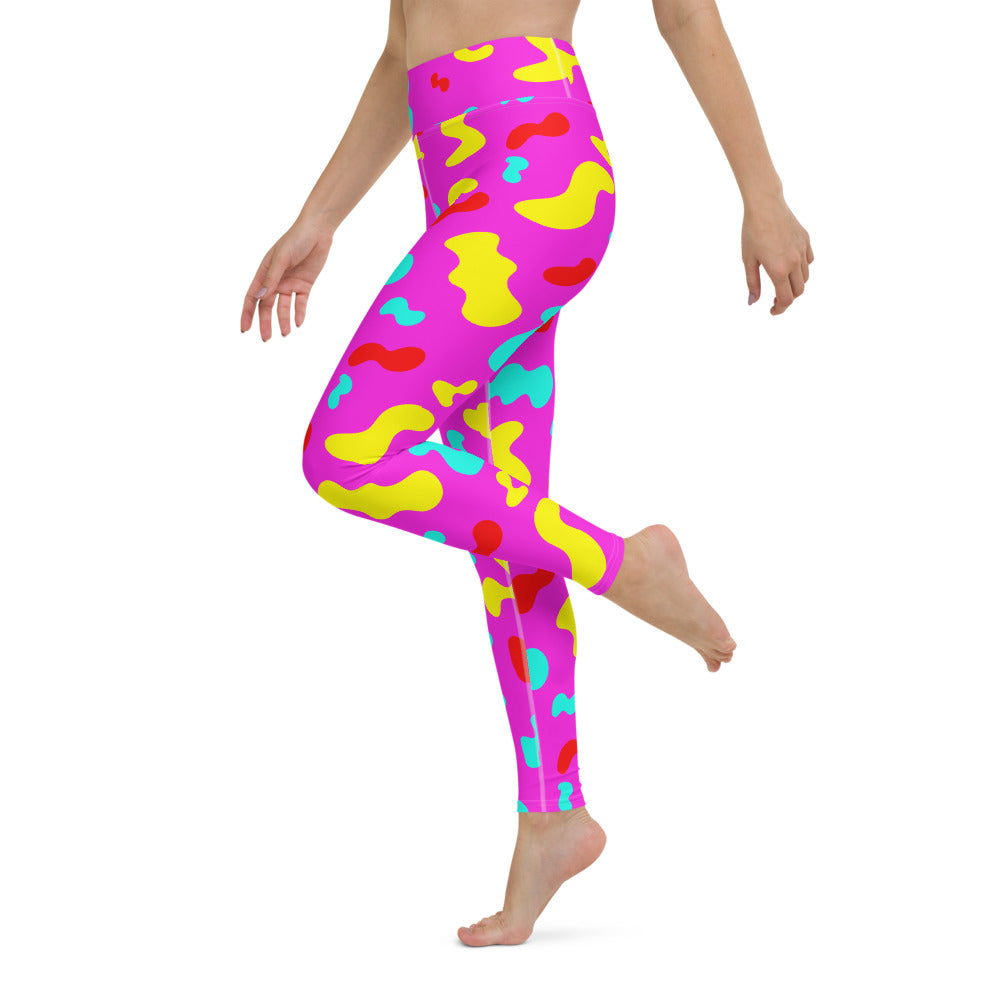 PINK SQUIGGLE LEGGINGS