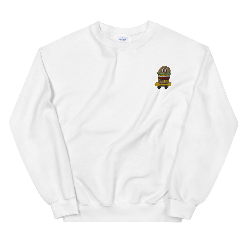 BURGER SKATER EMBROIDERED SWEATSHIRT