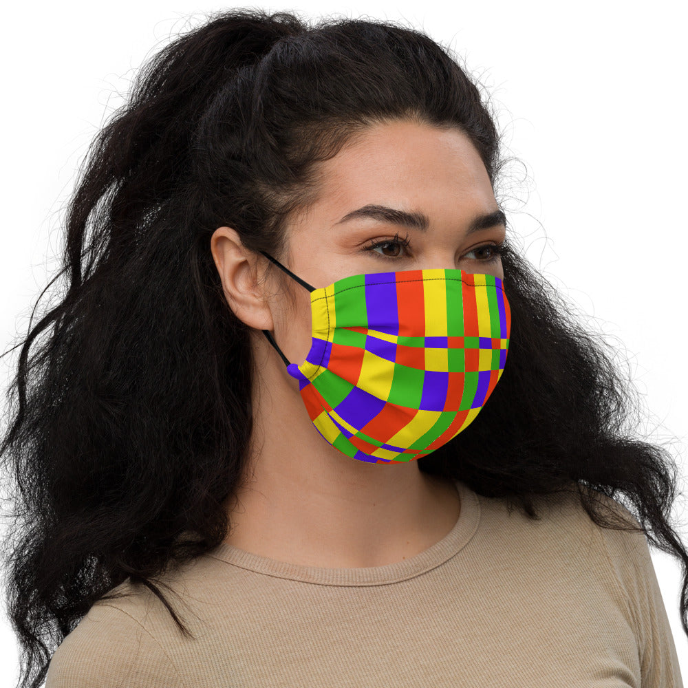 GROOVY PLAID FACE MASK