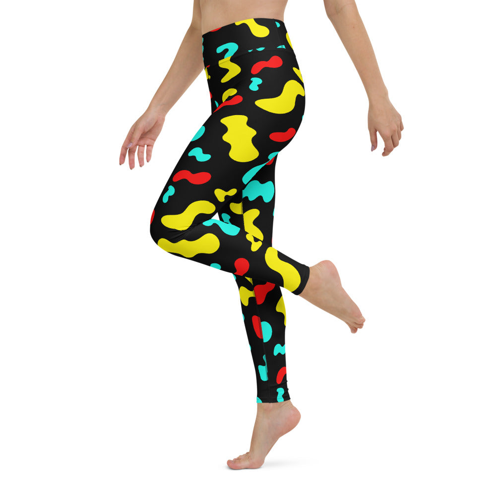 BLACK SQUIGGLE LEGGINGS
