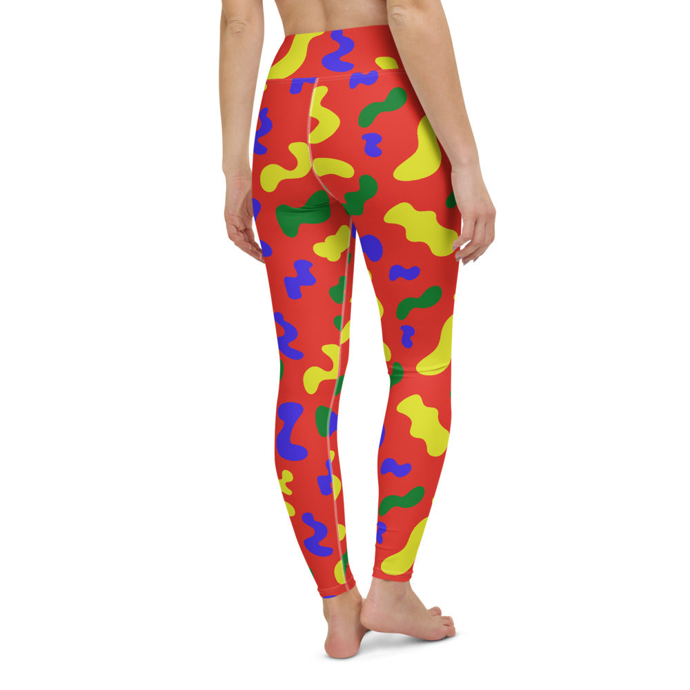 RED SQUIGGLE LEGGINGS