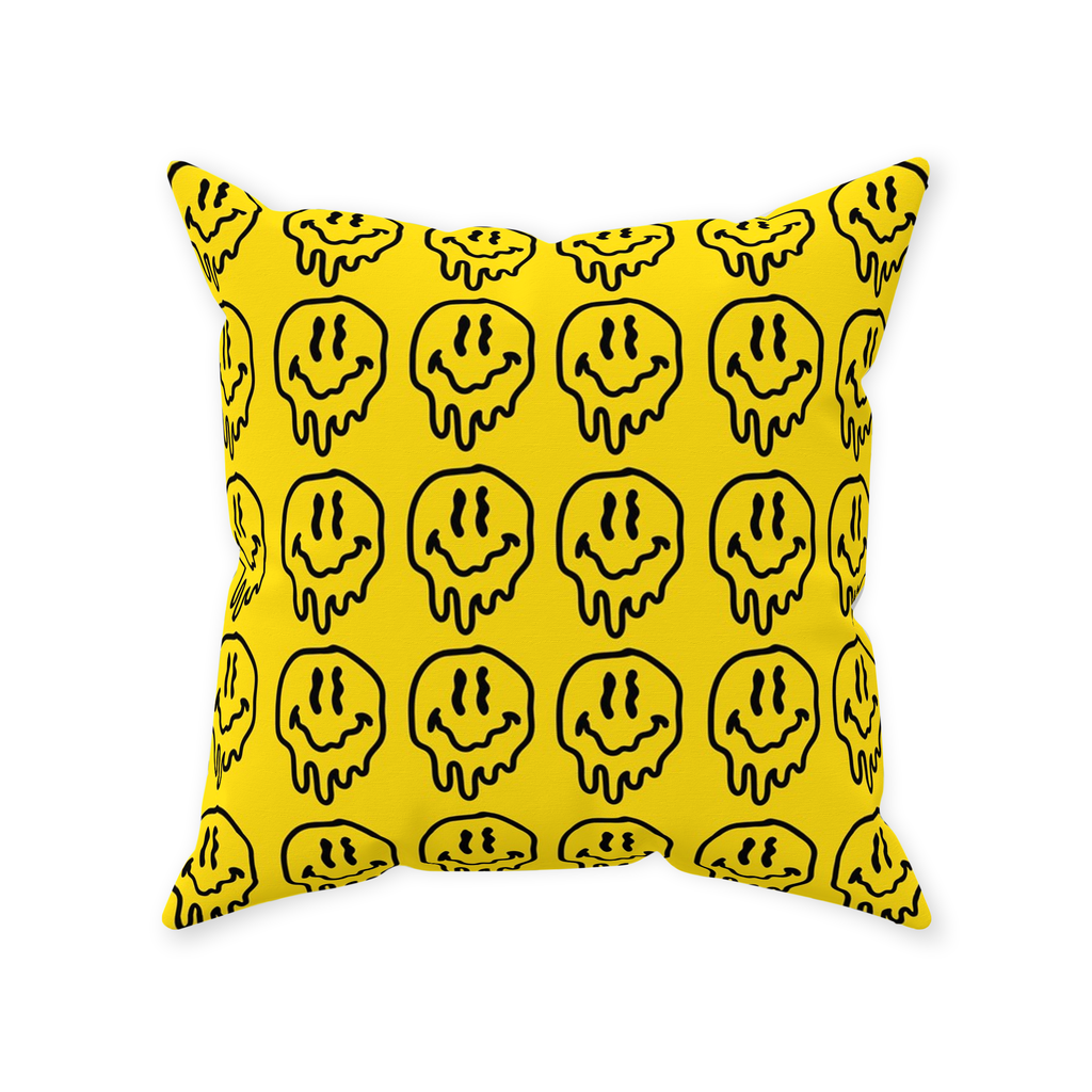 DRIPPY FACE THROW PILLOW