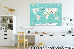 Global Animals World Map