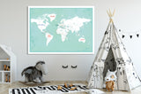 World Map Poster with Subscription