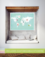 Customized World Map Travel Poster