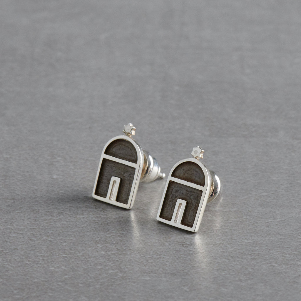 Silver Earring handmade Jewellery, Istanbul Synagogue Earrings, 925 Sterling Silver - PATA  Art & Design
