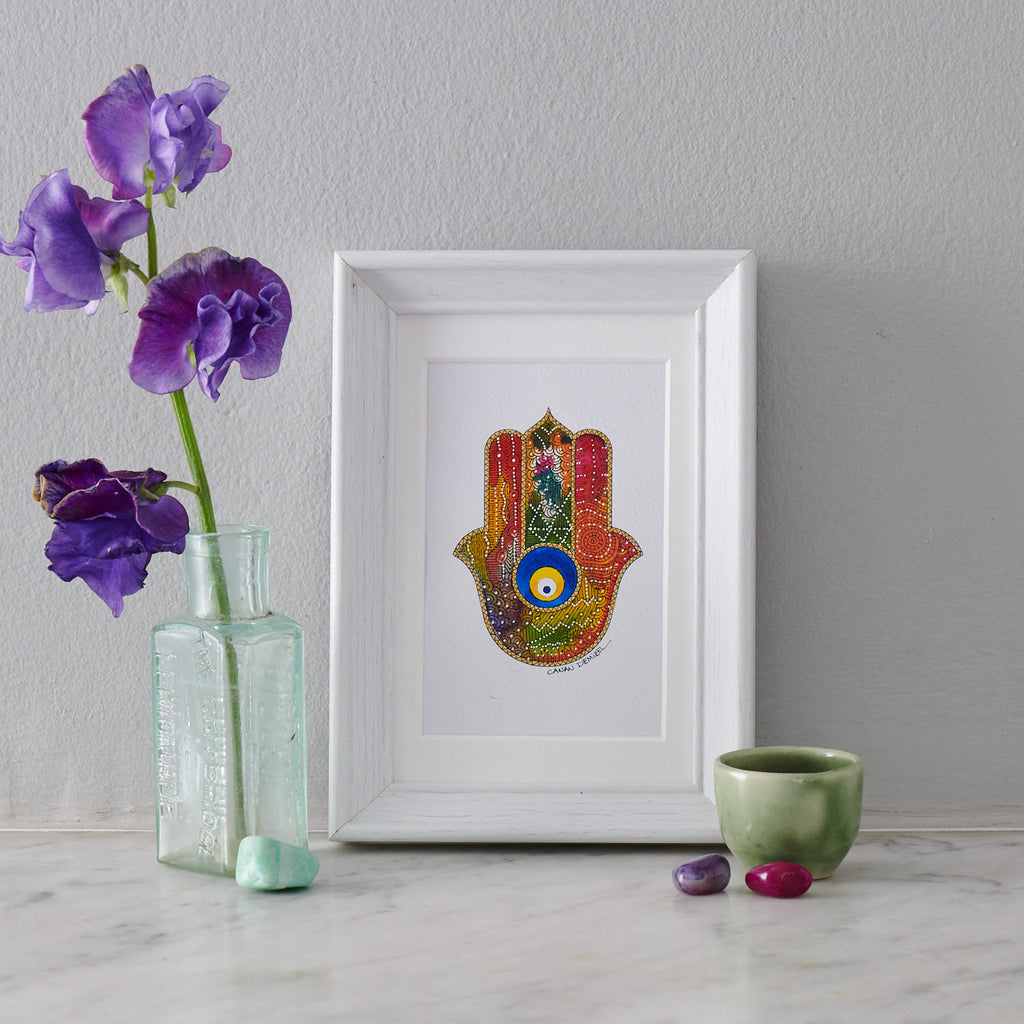Hamsa Hand Miniature Painting II - PATA  Art & Design