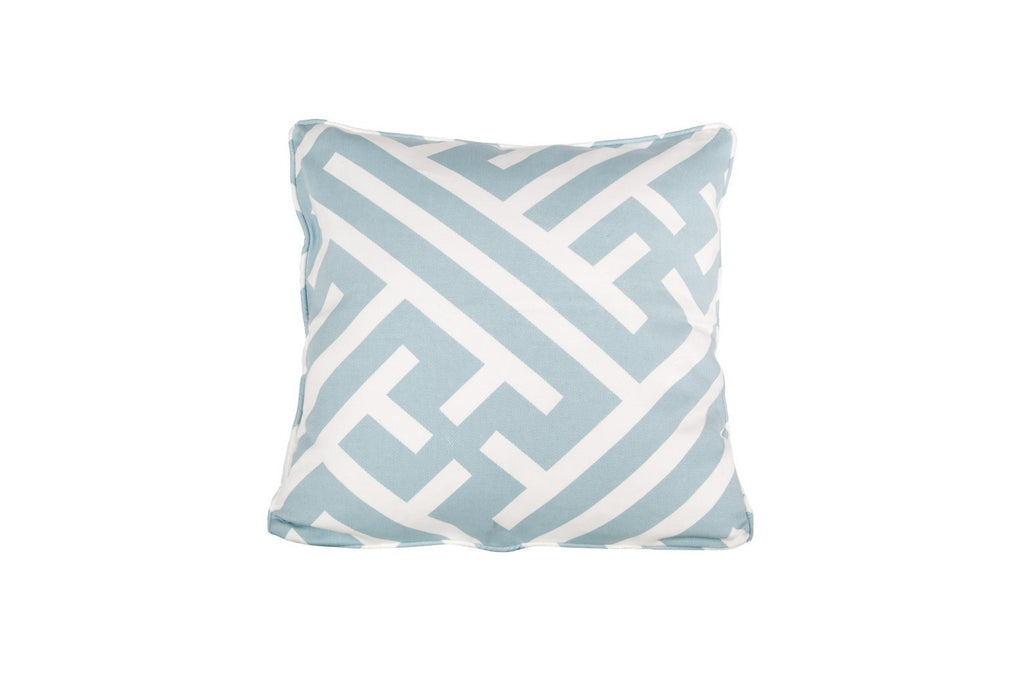 Cushion GRAND BHUTAN LATTICE REVERSE II ANGEL BLUE
