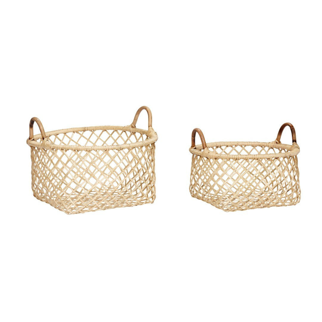 Basket, rattan, set of 2