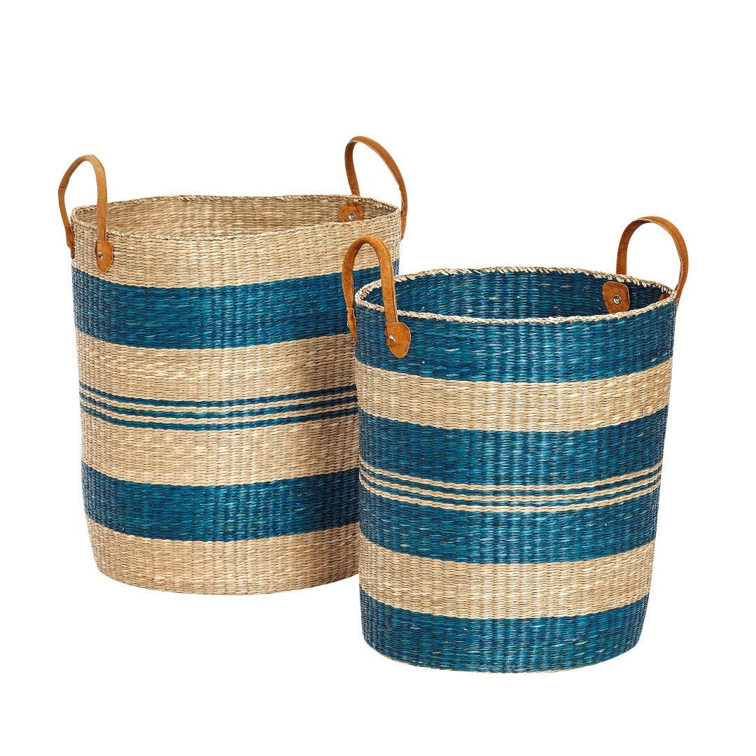 Basket with handle, seagrass, set of 2