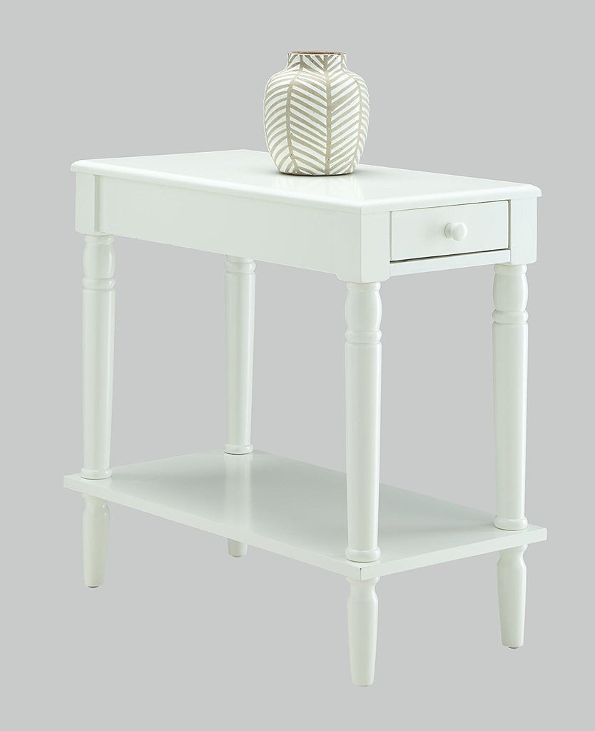 Convenience Concepts French Country No Tools Chairside Table White - Convenience concepts french country coffee table