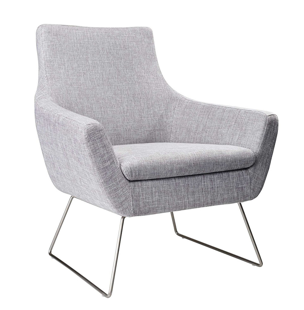 Adesso GR2002-03 Kendrick Chair, Light Grey