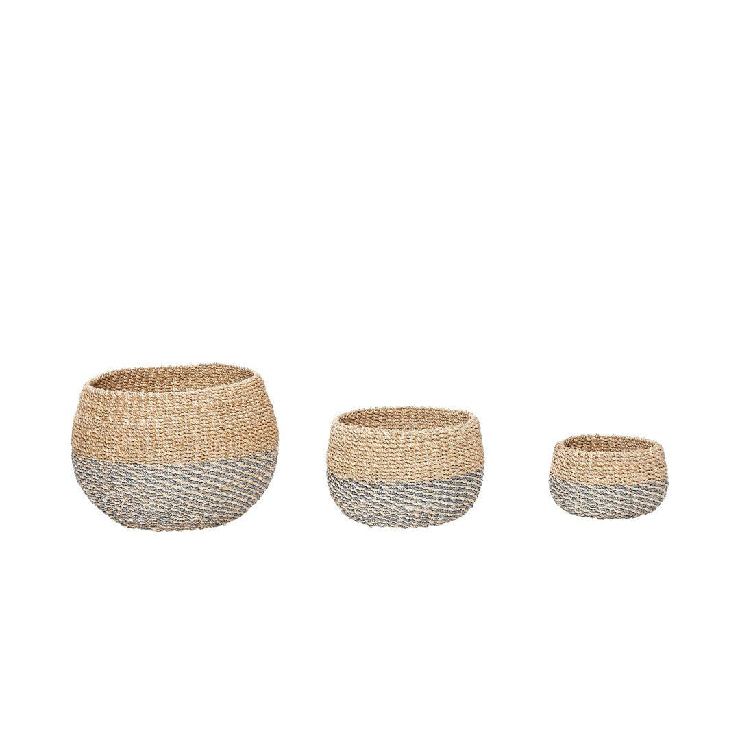 Basket, round, set of 3