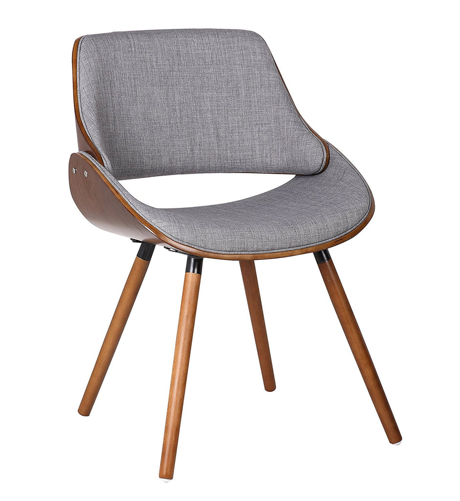 Container Furniture Direct Mid Century Modern Plywood Dining or Accent Chair with Modern Tall Padded Back, Standard Shaped Back