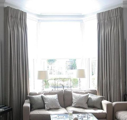 traverse curtain rod for bay window