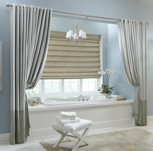 Contemporary Bath - Tub Enclosure Drapery Panels