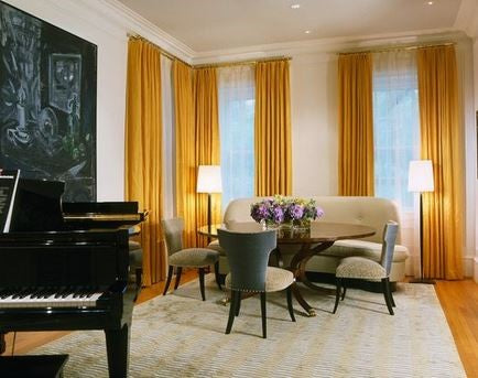 Dramatic Music Room In Miami By Brown Davis Interiors Inc Double Curtain Rods