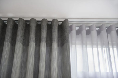 double traverse curtain rod