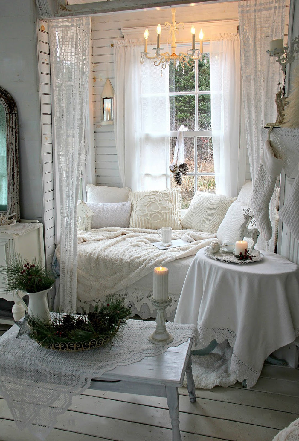 drapery hardware and curtains helps to shut out the cold this winter