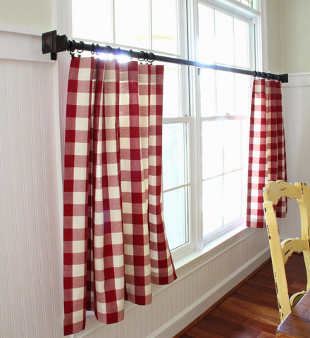 gingham cafe curtains