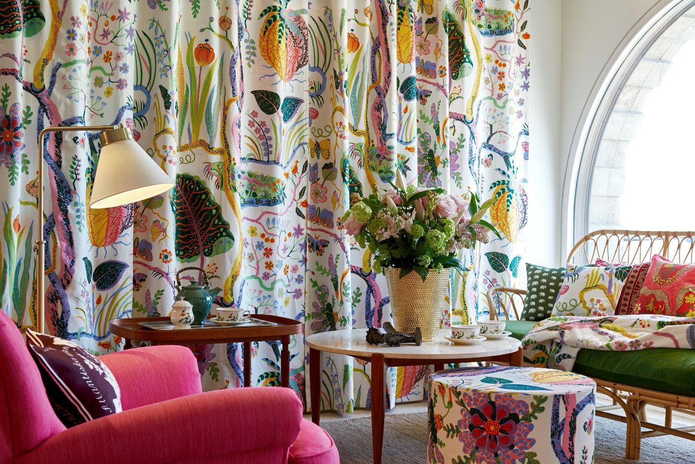 josef frank how to choose drapery hardware