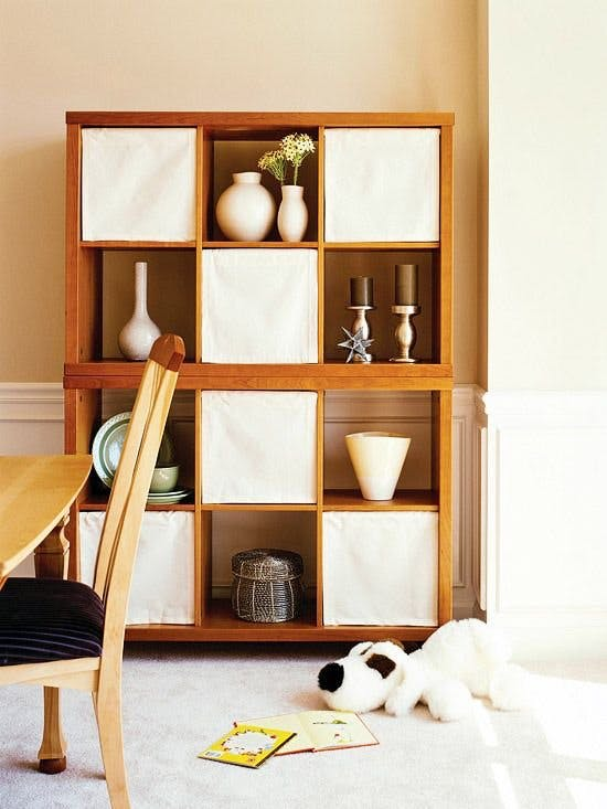 spring tension rods for designer open storage