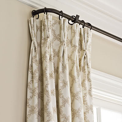 Pinch Pleated Drapery Panel With Return