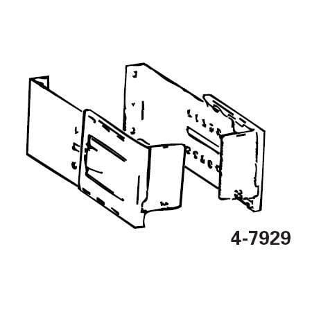 Graber Bracket with 3 1/2-6 Clearance for 4 1/2 Dauphine Rod