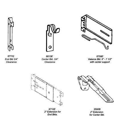 Continental II Brackets and Supports