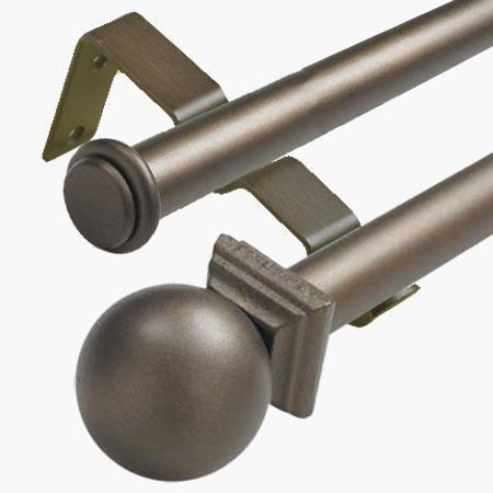 Cassidy West 1 Inch Wrought Iron Double Curtain Rods