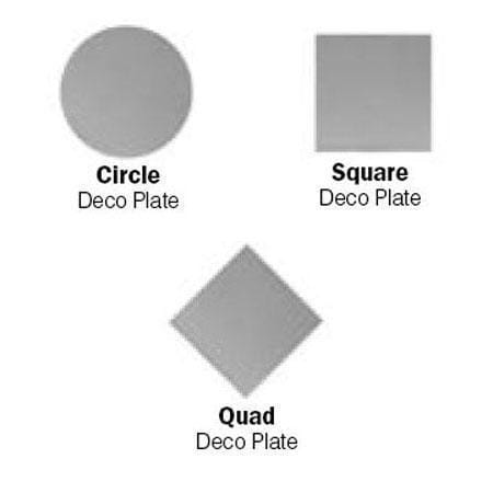 Decorative Deco Plates for 1 inch Track