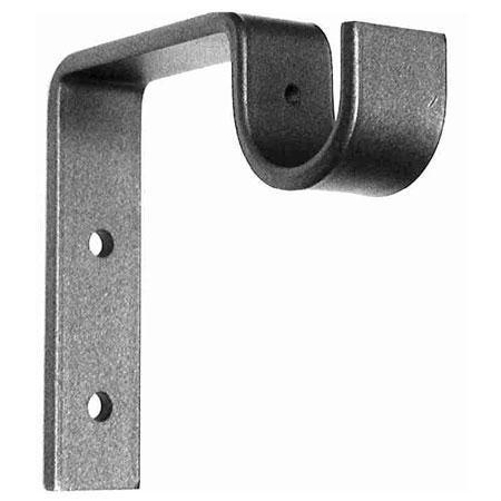 ONA Drapery Standard Wrought Iron Curtain Rod Bracket