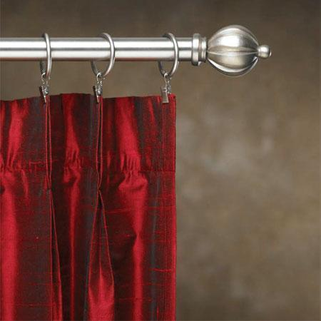 Cassidy West Contemporary Metal Double Curtain Rod Set - 1 in diameter