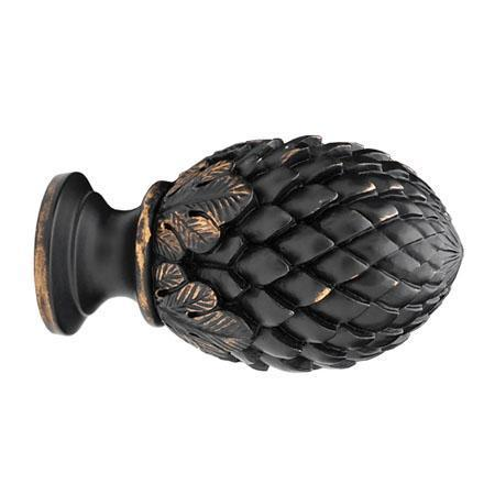 "Select Pinecone Finial For 3"" Wood Drapery Poles"
