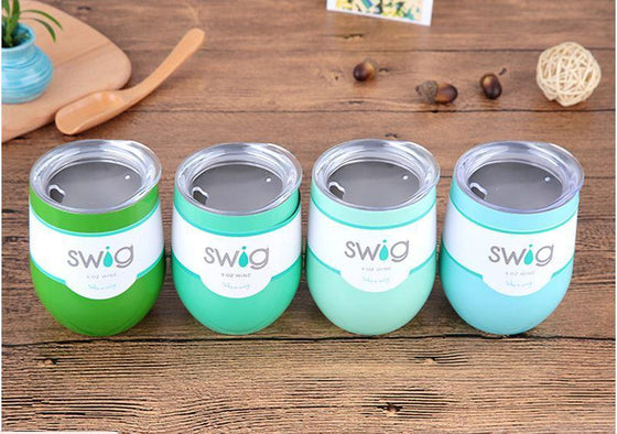 Swig Stainless Steel 9 Oz. Wine Cup Combos - Wine Time Club