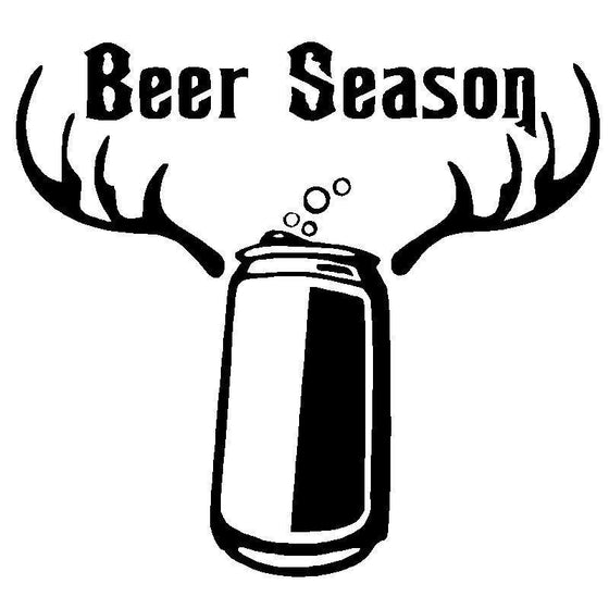 Beer Season Funny Vinyl Decals - Wine Time Club