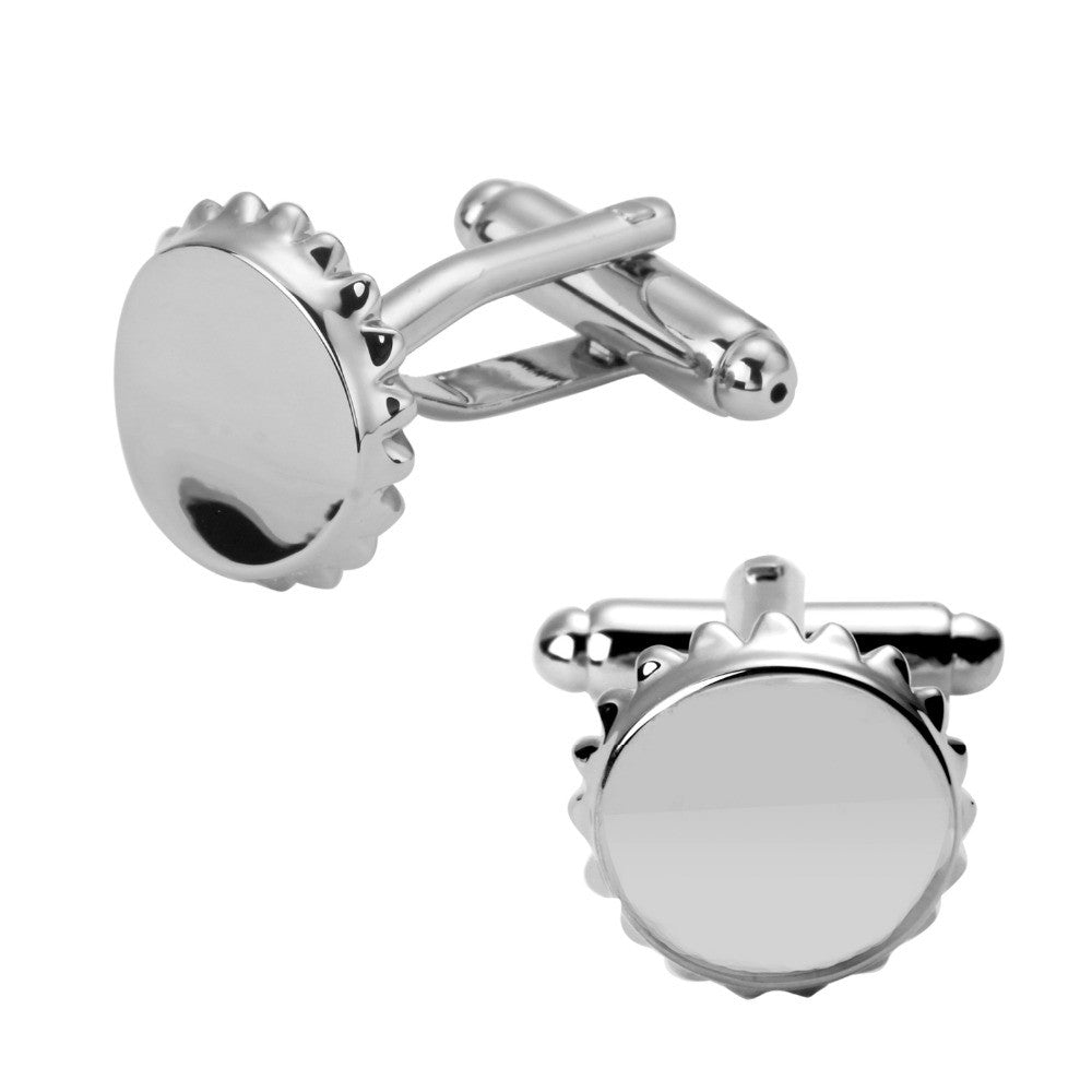 Men's Fasion Beer Cap Stainless Steel Cufflinks - Wine Time Club