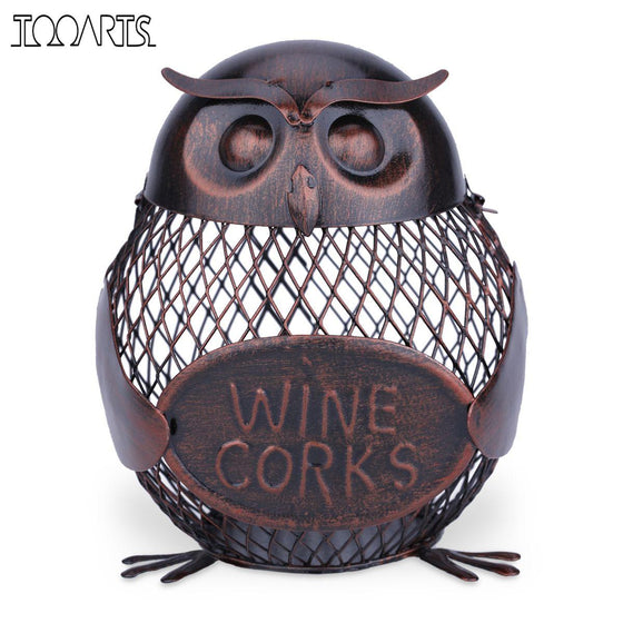 Wine Rack Owl Cork Container - Wine Time Club