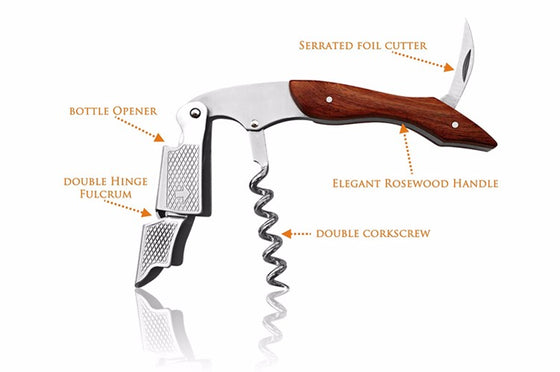 Wood Handle Wine Opener Multifunction - Wine Time Club
