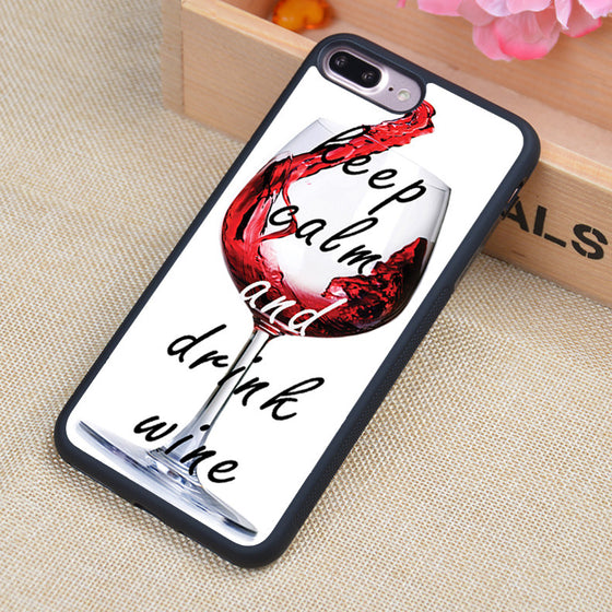 Keep Calm And Drink Wine Print Case - Wine Time Club